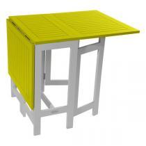 Table console de jardin pliante Burano - 135x65x74 cm - Gris City ...