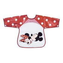 Disney Baby - Bavoir tablier rouge - Minnie & Mickey - 18 mois +