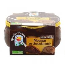 Grandeur Nature - Lot de 3 x Mousse au chocolat noir 100g