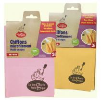 La Droguerie écologique - 2 Chiffons microfilament multi-usages
