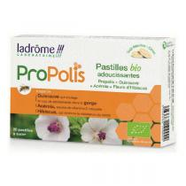 Ladrôme - Pastilles Propolis gorge bio adoucissante x 20