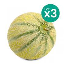 Les Paysans Bio - Lot de 3 x Melons Charentais 800-950g France Bio