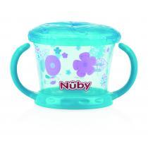 Nuby - Boîte à biscuits Designer Series - Aqua - 12mois+