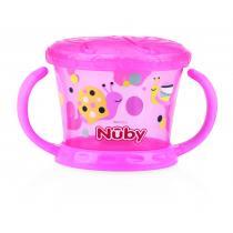 Nuby - Boîte à biscuits Designer Series - Rose - 12mois+