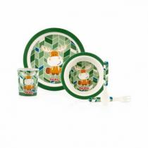 Nuby - Set de repas Bambou & Maïs - Elan vert - 6mois+