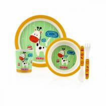 Nuby - Set de repas Bambou & Maïs - Girafe jaune - 6mois+