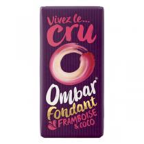 Ombar - Chocolat fondant framboise-coco bio - 35 g