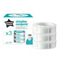 Sangenic - 3 Recharges Simplee pour poubelle