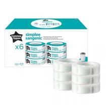 Sangenic - 6 Recharges Simplee pour poubelle