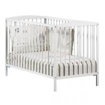 Baby Price - Lit bébé à barreaux 60x120cm Leaf - Blanc
