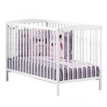 Baby Price - Lit bébé à barreaux 60x120cm Nao - Blanc