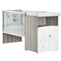 Baby Price - Lit bébé combiné évolutif 60x120cm Teddy