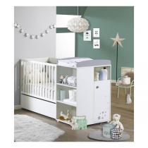 Tex Baby - Lit combiné évolutif Little Stars 120x60 en 90x190cm