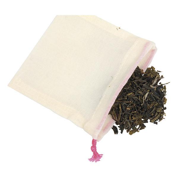 Ah! Table! - 5 sachets à thé réutilisables en Coton bio certifié