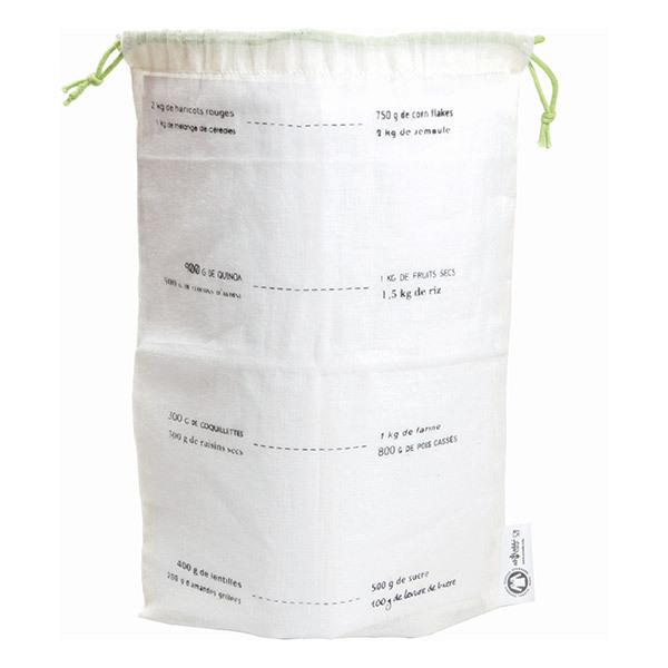 Ah! Table! - Lot de 5 sacs en coton bio avec graduation 27 x 20cm