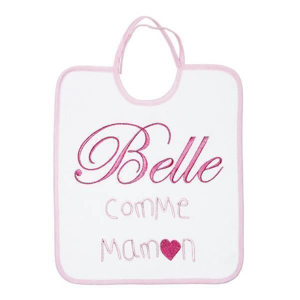 "Babycalin - Bavoir brodé ""Belle comme maman"" 6 mois +"