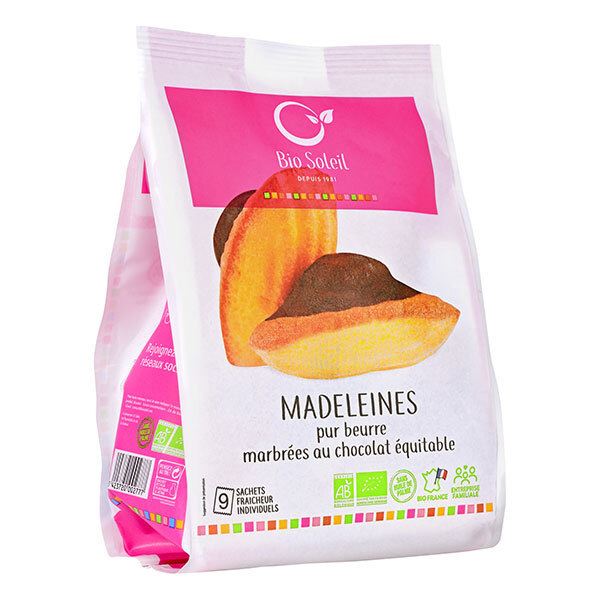 Bio Soleil - Madeleines marbrées chocolat x9 - 200g