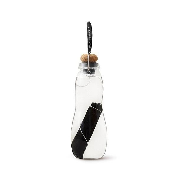 Black & Blum - Gourde filtrante Eau Good Glass Noir 65cl