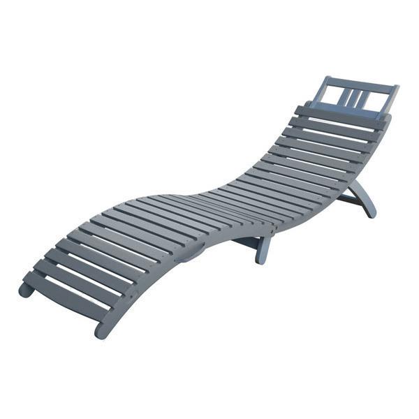 bain de soleil pliant burano 178x54x69 cm gris city. Black Bedroom Furniture Sets. Home Design Ideas