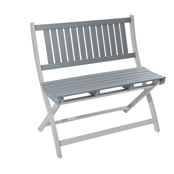 banc de jardin 2 3 places burano 90x50x86 cm gris city. Black Bedroom Furniture Sets. Home Design Ideas