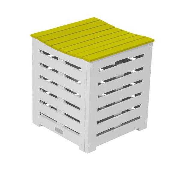 coffre de rangement burano 38x38x43 cm vert anis doux city green acheter sur. Black Bedroom Furniture Sets. Home Design Ideas