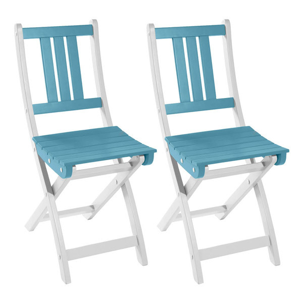 lot de 2 chaises pliantes burano 50x36x86 cm bleu sterling city green acheter sur. Black Bedroom Furniture Sets. Home Design Ideas