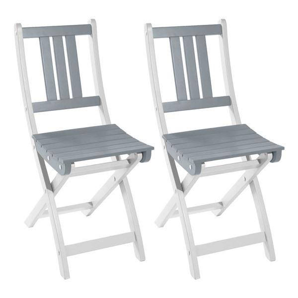 lot de 2 chaises pliantes burano 50x36x86 cm gris city green acheter sur. Black Bedroom Furniture Sets. Home Design Ideas
