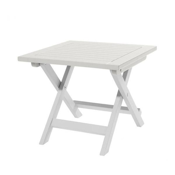 table d 39 appoint pliante burano 45x45x38 cm blanc city. Black Bedroom Furniture Sets. Home Design Ideas