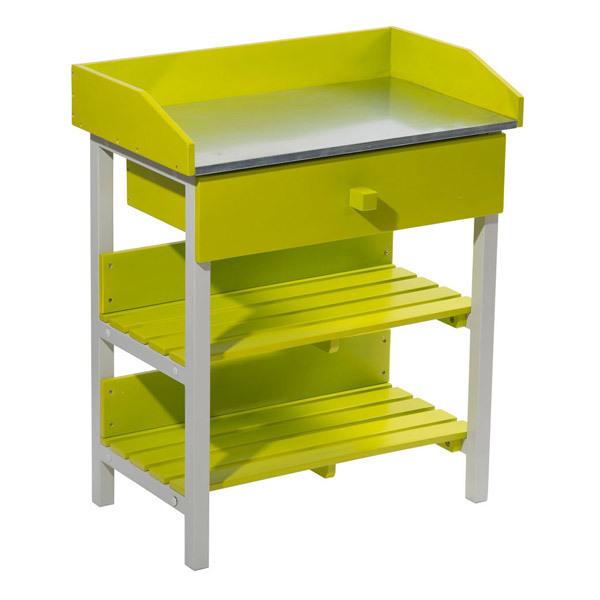 table de rempotage burano 45x75x90 cm vert anis doux city green acheter sur. Black Bedroom Furniture Sets. Home Design Ideas