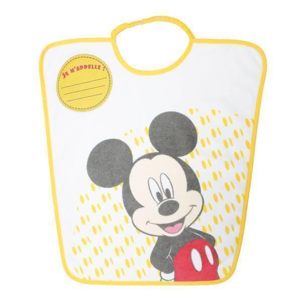 """Disney Baby - Bavoir maternelle """"Je m'appelle"""" Jaune Mickey 24 mois +"""