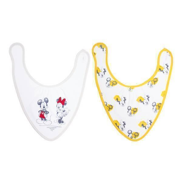 Disney Baby - Lot 2 bavoirs bandana naissance - Minnie et Mickey