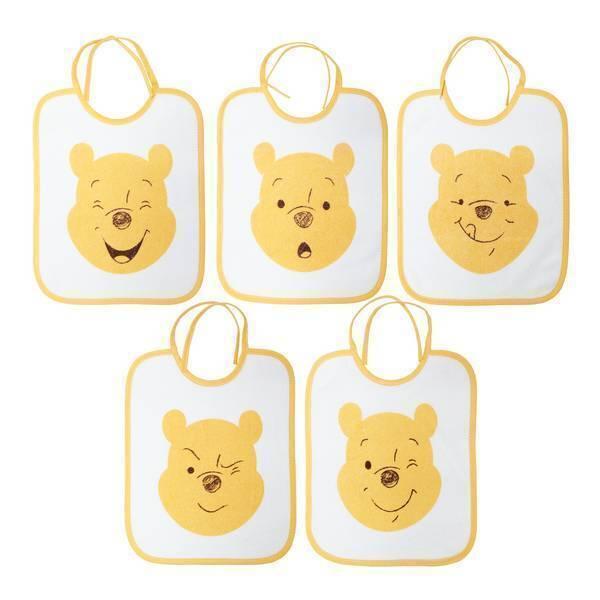 Disney Baby - Lot 5 bavoirs naissance - Winnie
