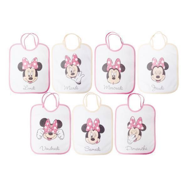 Disney Baby - Lot 7 bavoirs naissance Journalier - Minnie