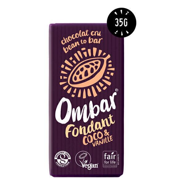 Ombar - Chocolat cru fondant coco-vanille bio 35g