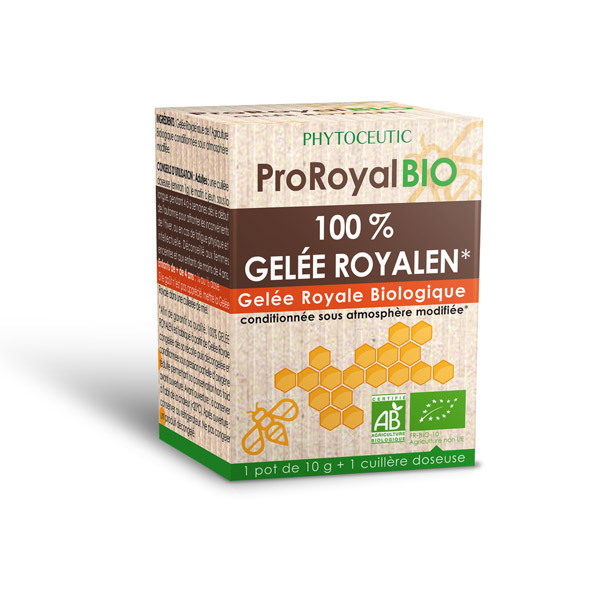 ProRoyal BIO - 100% Gelée Royalen Biologique Pure - Pot 10g