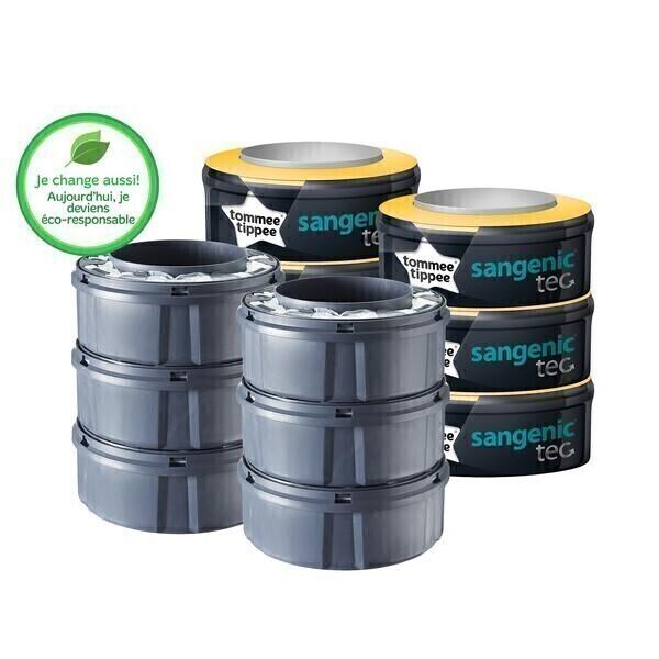 6 recharges tec pour poubelle sangenic la - Recharges pour poubelle a couches sangenic ...