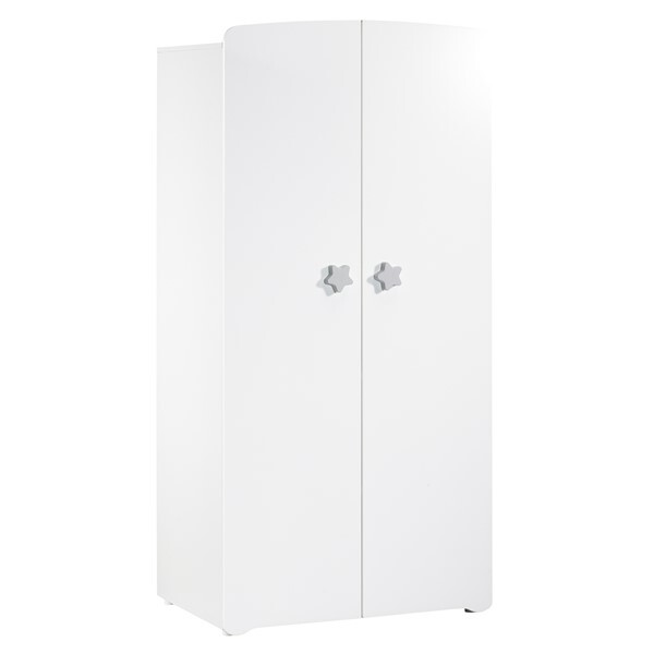 Baby Price - Armoire blanche basic - étoile