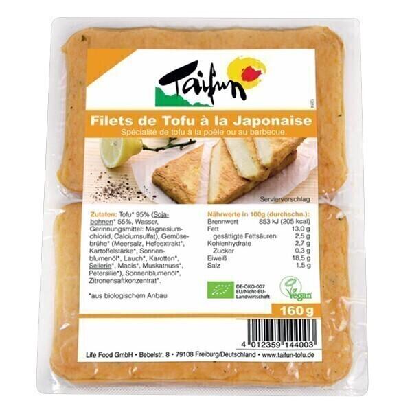 Taifun - Lot de 3 x Filet de Tofu à la japonaise 2x80g