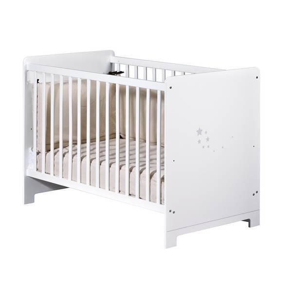 lit de b b little stars 120x60cm tex baby la r f rence bien tre bio b b. Black Bedroom Furniture Sets. Home Design Ideas