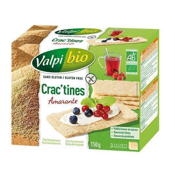 Valpibio - Crac'tines Amarante Bio sans gluten - 150g