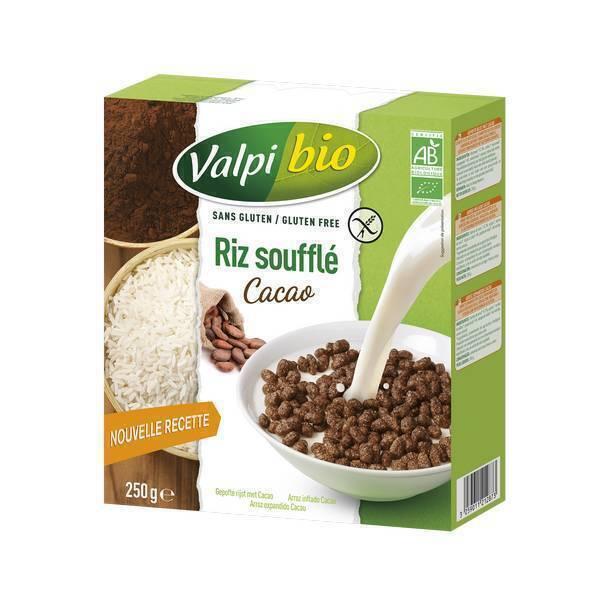 Valpibio - Riz Soufflé Cacao Bio Sans gluten - 250g