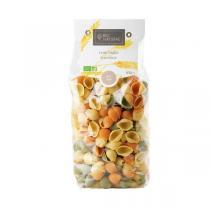 Bio Naturae - Pâtes Conchiglie Tricolore - 500 g