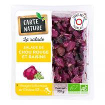 Carte Nature - Salade de chou rouge aux raisins 160g