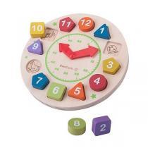 EverEarth - Horloge en bois - Dès 24 mois