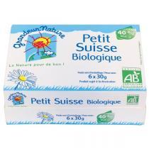 Grandeur Nature - Lot de 12 x Petits Suisses Bio 40% 6x30g