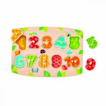 Hape - Puzzle à boutons chiffres - Dès 36 mois