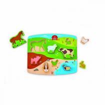 Hape - Puzzle figurines animaux de la ferme - Dès 24 mois