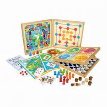 Jeujura - Coffret de Jeux classiques - 80 règles - Dès 3 ans