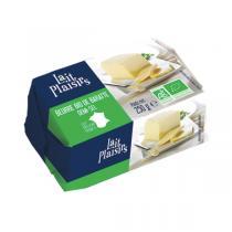 Lait Plaisirs - Lot de 12 x Beurre de baratte demi-sel 250g