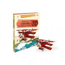 SASSI Junior - Livre et maquette L'avion 3D - Dès 6 ans